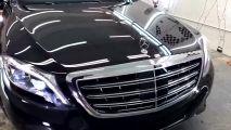 实拍奔驰S600迈巴赫,奢华至极.
