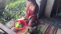 实拍:妹子亲自下厨,做柬埔寨传统美食