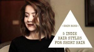 5个短发发型教程   Erin Rose