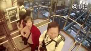 智能电梯 ,惊现老外满级中文,哈哈哈这个能笑一年[笑cry]