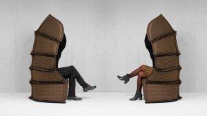 Färg & Blanche uses Bolon fabric to create samurai-inspired Long Neck armchair