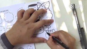 一个超萌的简笔画,这个很适合拿去教小朋友,卧槽,碉堡了,建议留着!!!