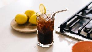 冰咖啡柠檬水