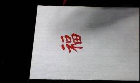 雷绍华写福字