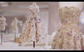 Dior花朵刺绣礼服,圆你前世今生的花卉情缘