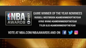 2017 NBA Awards: Game-winner of the Year Nominees