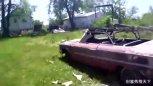 实拍师傅清洗锈迹斑斑的报废车,无尘喷砂技术给力!