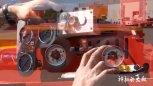 实拍:卡车司机是如何控制轮子和底盘升降的